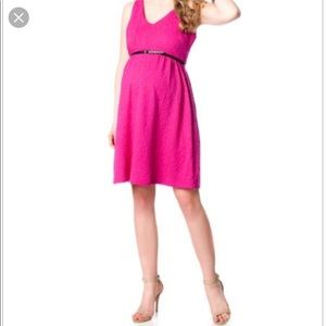 AS NEW - worn once only. Maternity dress hot pink
